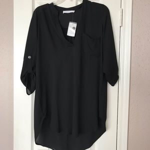 Lush black tunic new with tags